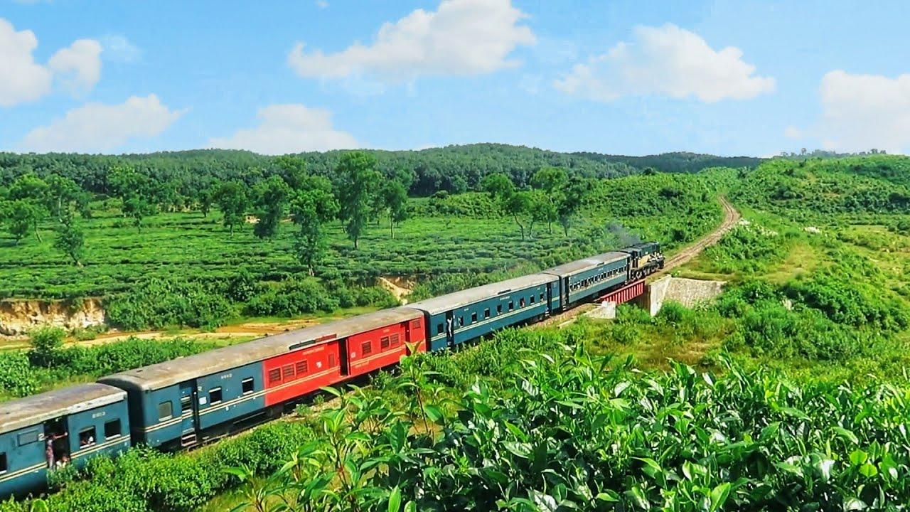চায়ের দেশের ট্রেন || ঐতিহাসিক সুরমা মেইল || Surma Mail passing Tea Garden in Srimangal ||