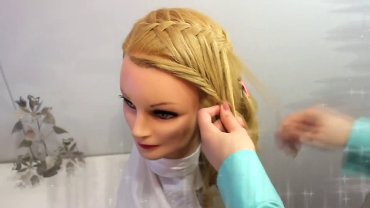 Прически на длинные волосы - косички прическа на каждый день детские причёски на выпускной