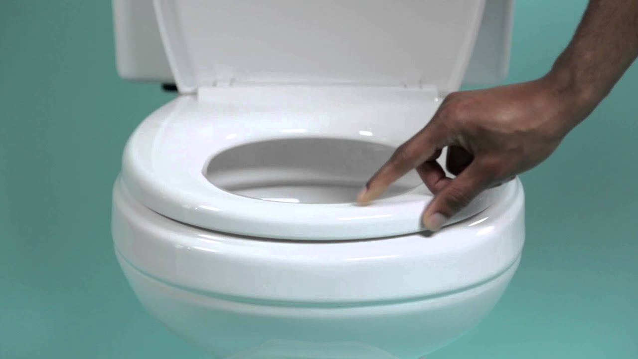 how to put the toilet seat down   YouTube