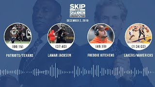 Patriots/Texans, Lamar Jackson, Freddie Kitchens, Lakers/Mavericks | UNDISPUTED Audio Podcast