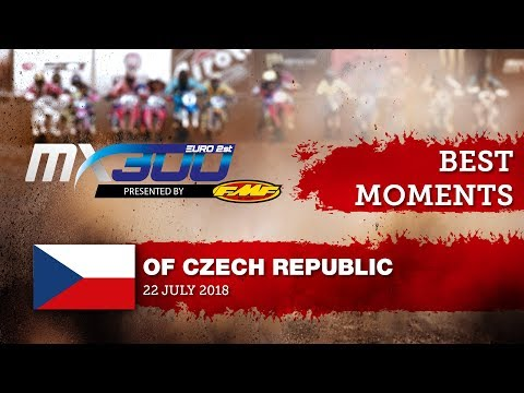 EMX300 Presented by FMF Racing Race2 Best Moments - Round of Czech Republic 2018