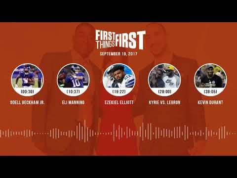 First Things First audio podcast(9.19.17) Cris Carter, Nick Wright, Jenna Wolfe | FIRST THINGS FIRST