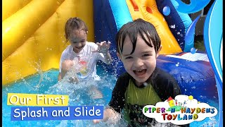 Piper N Hayden's Our First Splash and Slide