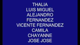 Thalia,Shakira,Camila,Chayanne ENTRE LOS LATINOS MAS POPULARES DEL MUNDO