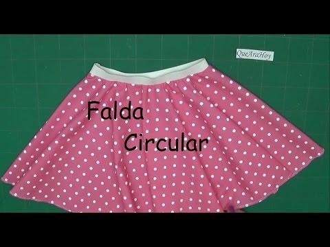 Falda Circular   Alta Costura para NIÑOS   clase # 75