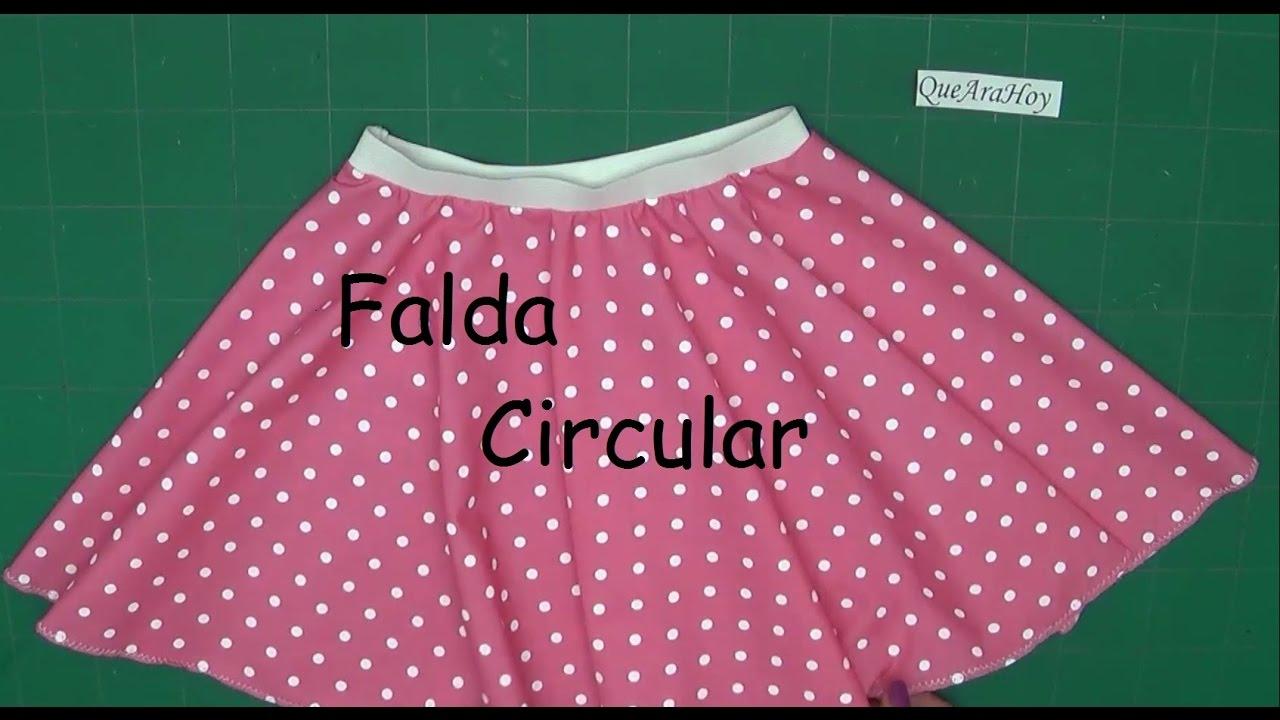 6914f8311 Falda Circular Alta Costura para NIÑOS clase # 75 - YouTube