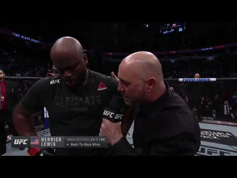 "Derrick Lewis Post Fight Interview ""I Was Smoking Weed."""