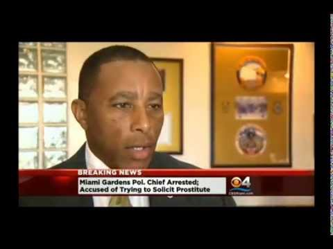 Police chief arrested for prostitution, Miami Gardens, Florida