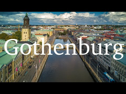 Gothenburg downtown dronefly