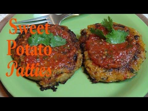 Sweet Potato, Quinoa and Black Bean Patties Vegan Recipe