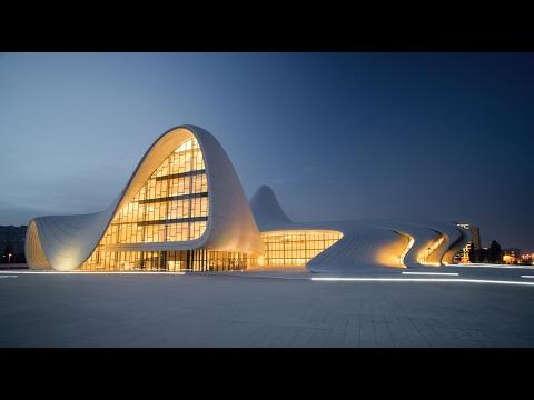 Баку  Heydar Aliyev Center Центр Гейдара Алиева Heydar Aliyev Merkezi