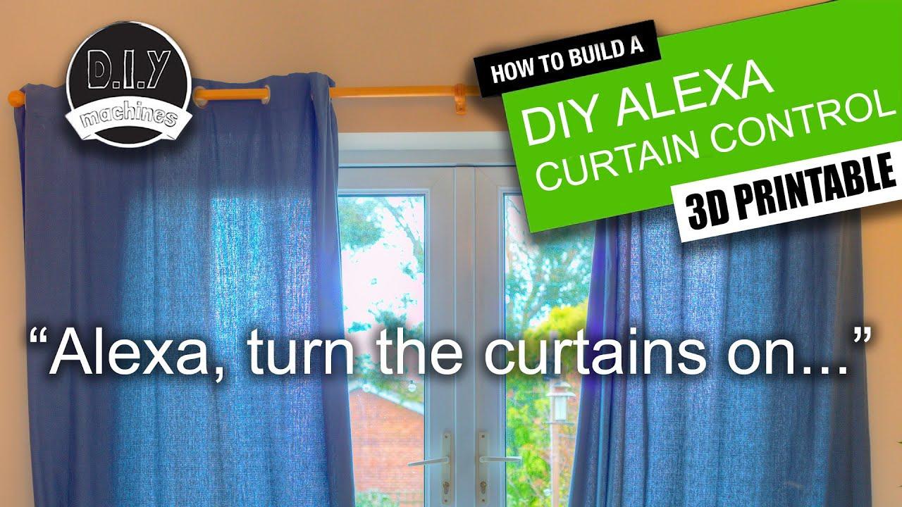 DIY - Alexa Curtain Control System - (3D Printable, Echo, Adafruit Feather  Huzzah ESP8266)