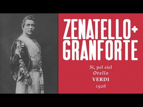 Giovanni Zenatello & Apollo Granforte - Sì, pel ciel [Otello] - 1926