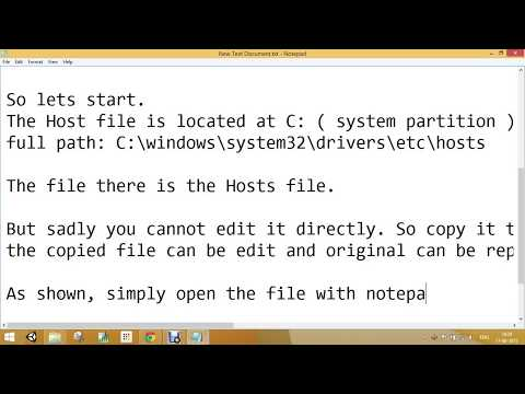 Add DNS Entry In HOSTS File Windows