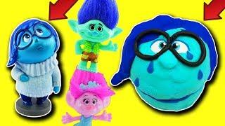 Trolls Poppy & Branch & Joy Cheer Up PlayDoh Drill N Fill Head Sadness! Fidget Spinners, Blind Bags!