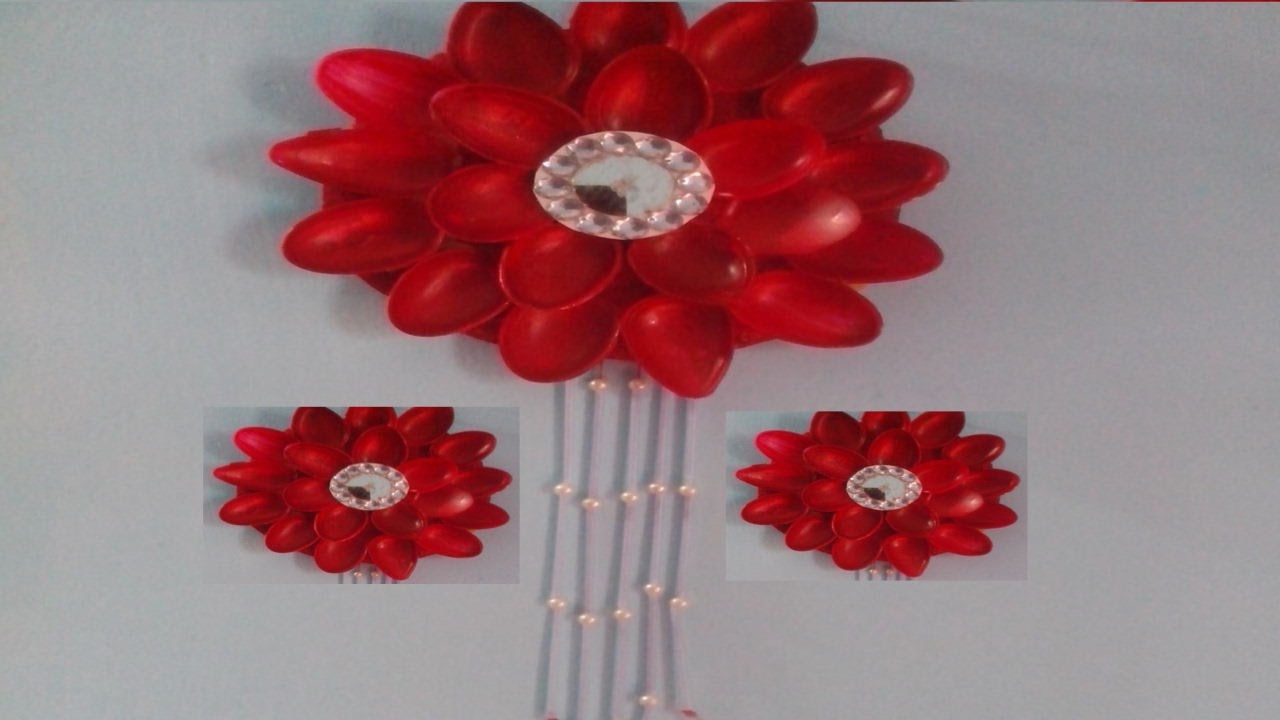 plastic spoon flower wall spoon art youtube