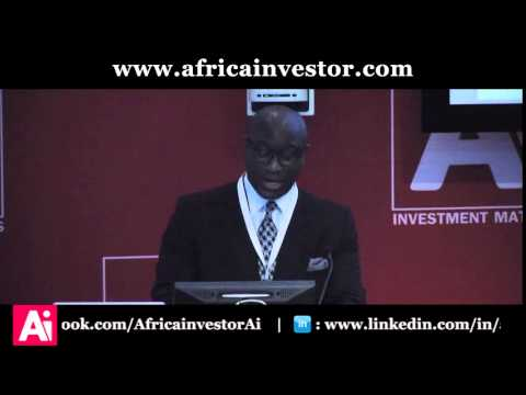 Hubert Danso CEO and Vice Chairman, Africa investor, opens the Ai CEO Investment Summit 2015