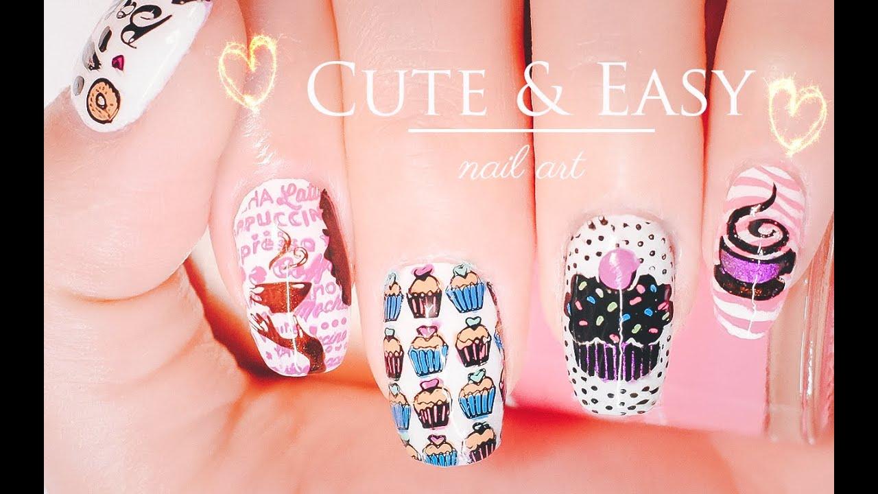 cute korean easy nail art