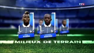 Liste des joueurs officielles selectionnés equipe de france bleus coupe du monde 2014 bresil fifa di