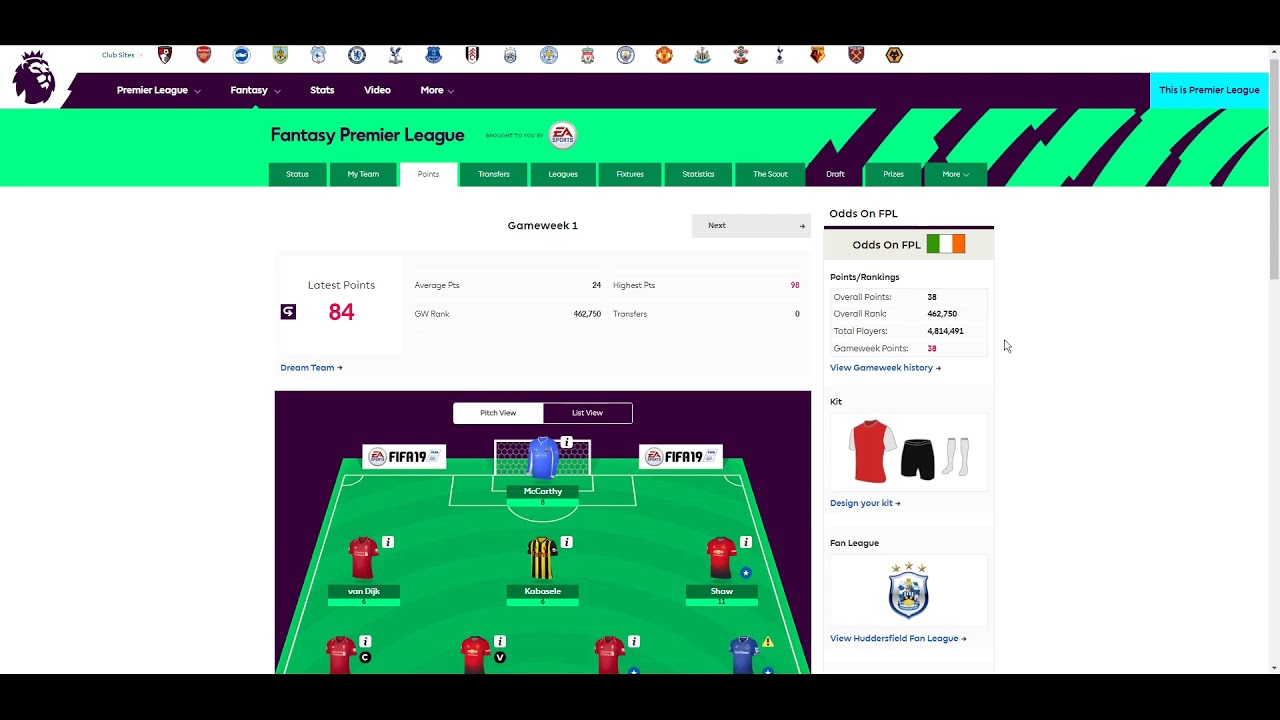 How to change your team name in Fantasy Premier League
