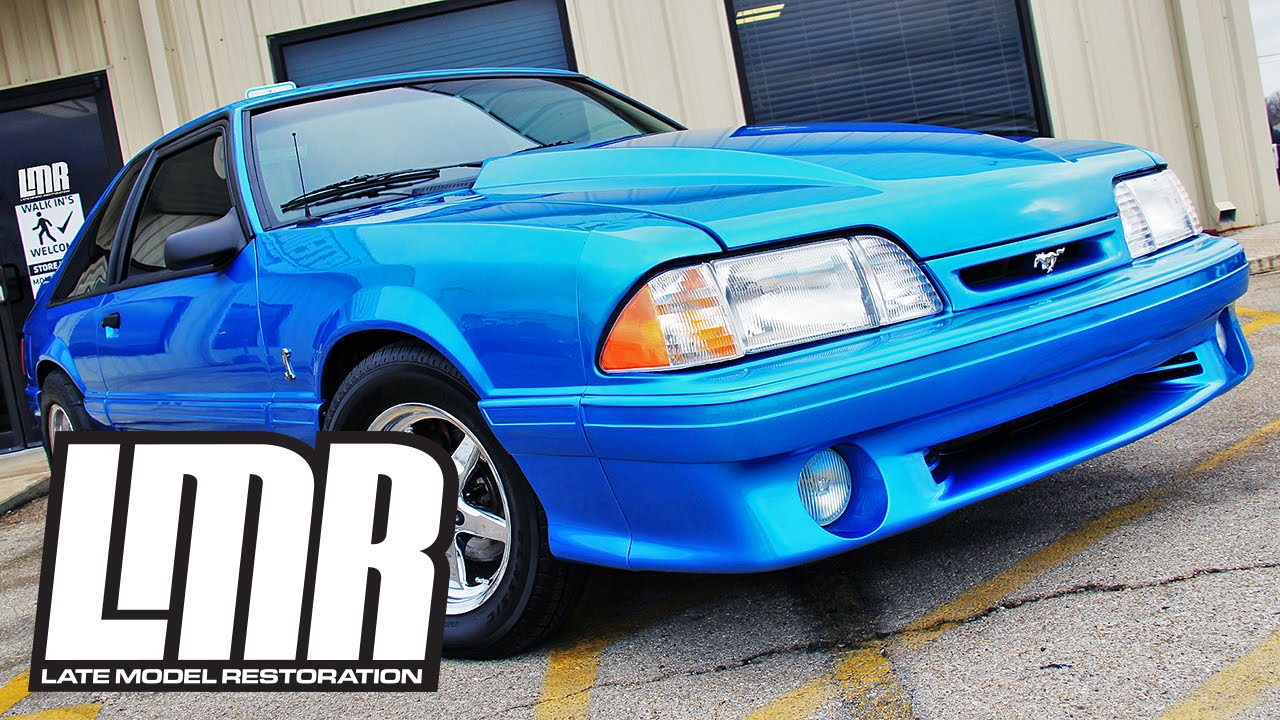 1993 svt cobra conversion body kit 87 93 fox body mustangs youtube. Black Bedroom Furniture Sets. Home Design Ideas