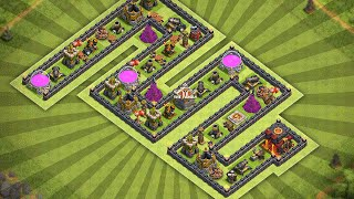 Clash of Clans - TOWN HALL 8 (TH8) MINI GAME BASE! / FUNNY FRIENDLY BATTLE CHALLENGE! 2016