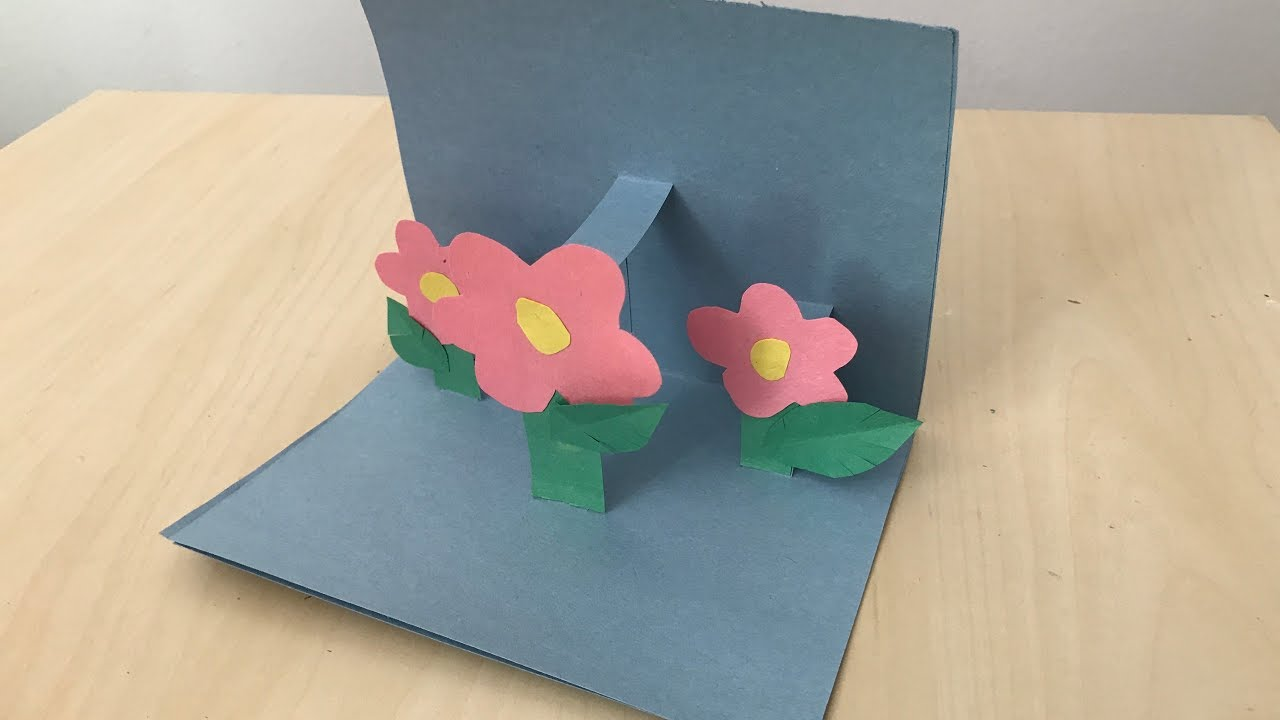 diy cards  easy pop up flower greeting card  youtube