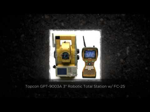 "Topcon GPT-9003A 3"" Robotic Total Station w/ FC-2500 Data Co"