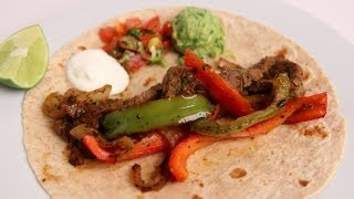 Homemade Steak Fajitas Recipe - Laura Vitale - Laura In The Kitchen Episode 381