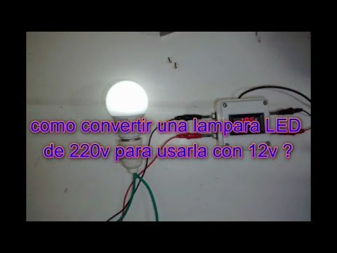 501bdc361df como convertir una lampara LED de 220v para usarla con 12v - YouTube