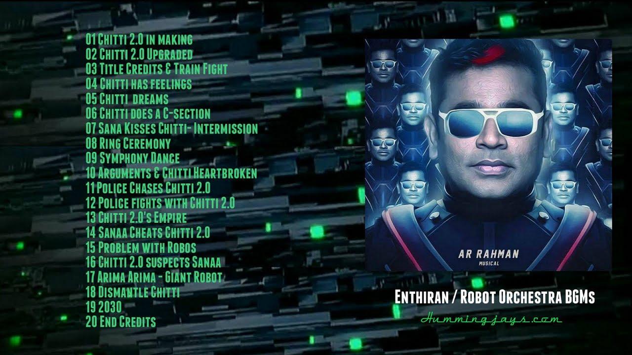 Orchestra BGMs of Enthiran (Robot) | An A.R.Rahman musical ...