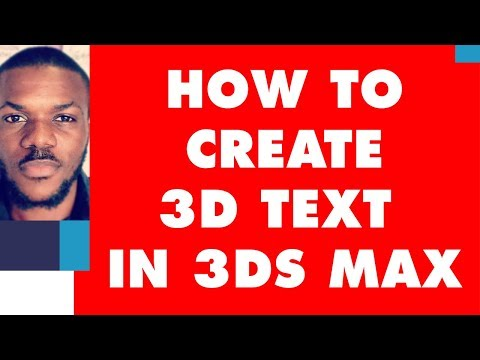 Autodesk 3ds max Tutorial - How To Create and texture Amazing 3D Text