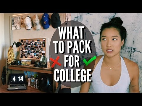 WHAT TO BRING TO COLLEGE (and what not to) | Packing for College!