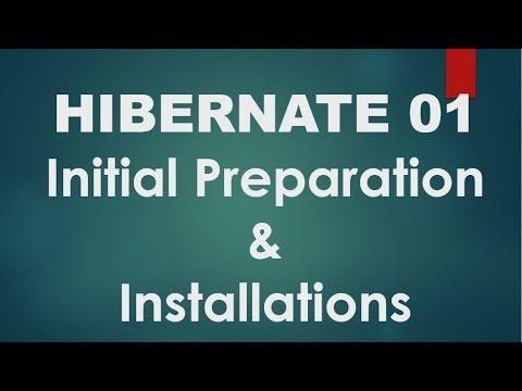 Hibernate - 01 - Initial Setup