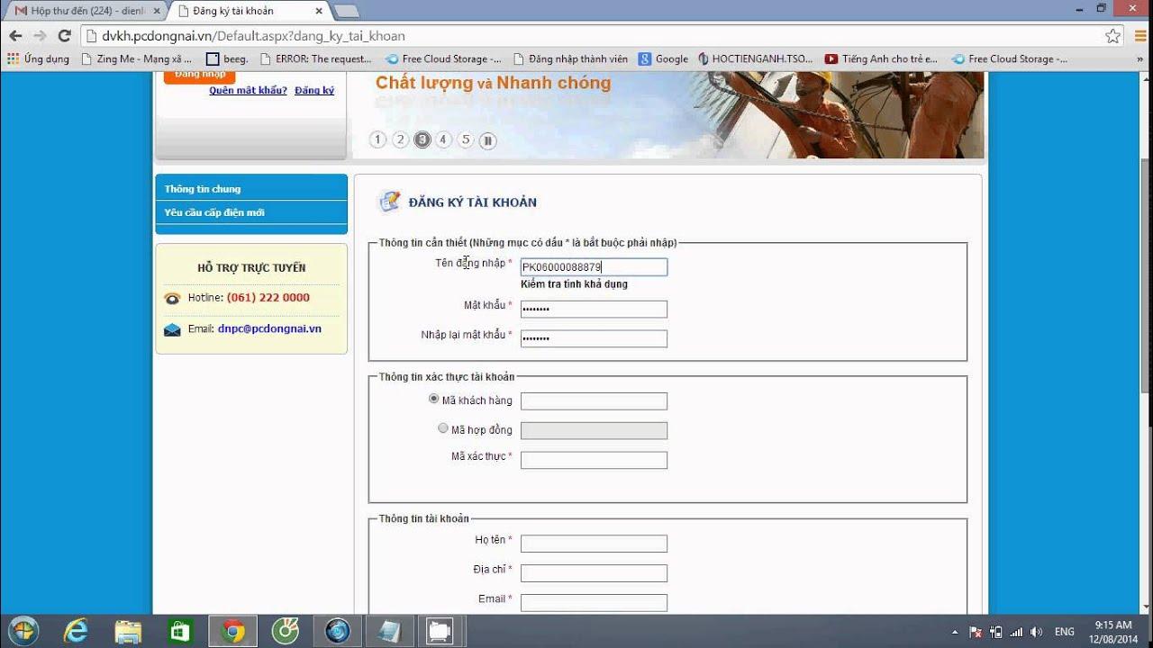 Hướng dẫn đăng ký tài khoản xem hóa đơn điện tử