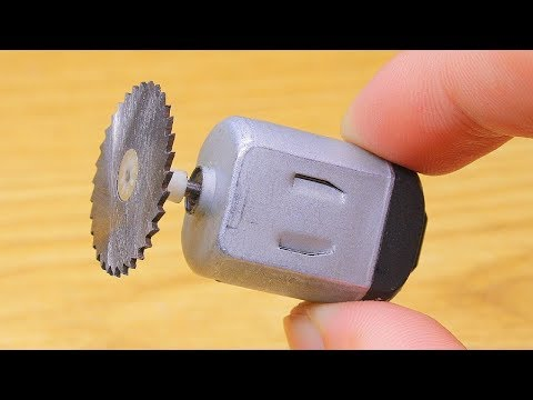 Mini Elektrikli Testere Nasıl Yapılır - How To Make A Mini Dremel Tool