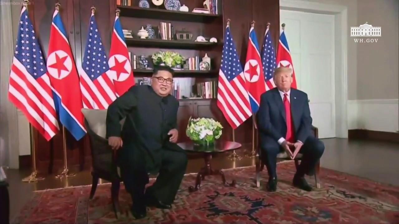 President Trump Participates in a 1:1 Meeting with North Korean Leader Kim Jong Un