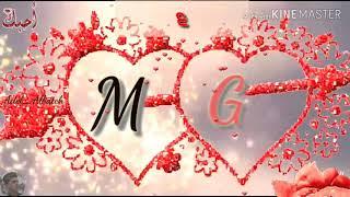 حالات حرف G و M حالات حب رومنسية عشاق حرف M اجمل حالات حب حرف M و G Youtube