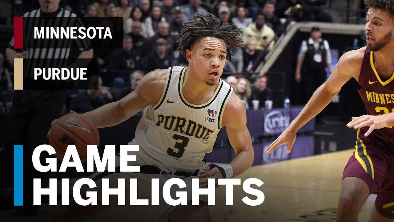 No. 11 Purdue at Minnesota men's basketball score, video highlights