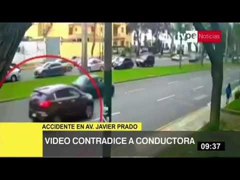 Accidente En Av. Javier Prado: Video Contradicen Versión De Conductora