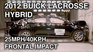 2012 Buick LaCrosse eAssist Hybrid | 25mph/40kph Frontal Crash Test | CrashNet1