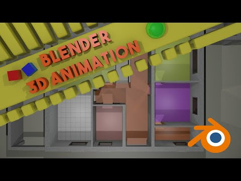 Blender Animation The House Video 1