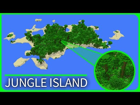 Minecraft PE Seeds - JUNGLE ISLAND with Dungeon & Jungle Temple Seed - Best MCPE Seeds 1.1