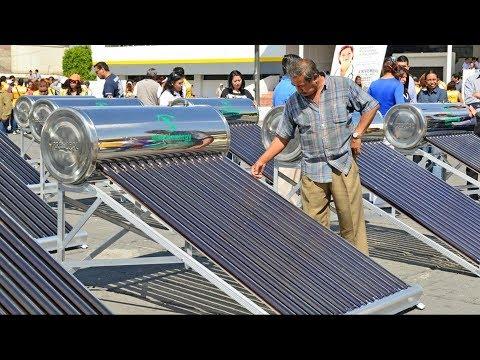 Anuncia Coesvi programa de boiler solares, el gobierno paga una parte