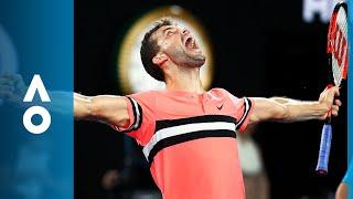 Grigor Dimitrov v Nick Kyrgios match highlights (4R) | Australian Open 2018