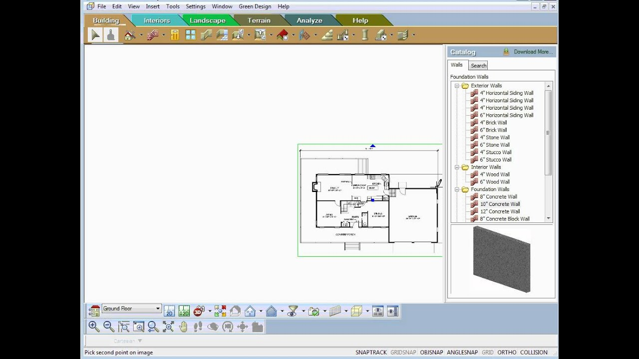 TurboFloorPlan - using the Trace Tool on House Plans - YouTube