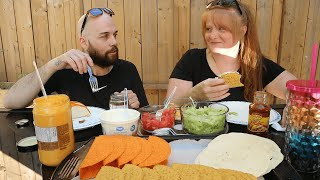 TACO FEAST WITH JESSE  JUNE MUKBANGASMR COLLAB WITH DOLCEFOODIE + SUAVE BOOM  MUKBANG