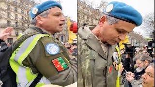 Un soldat vétéran soutient les #giletsjaunes