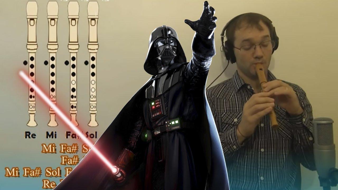 Marcha Imperial  Star Wars DARTH VADER en Flauta Dulce - Con notas explicadas para aprenderla!