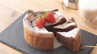 バレンタインに!ガトーショコラの作り方(小麦粉なし・バターなし) Gateau au Chocolat|HidaMari Cooking